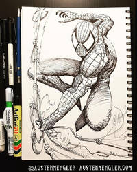 Spider-Man - Inktober 20 2018 by AustenMengler