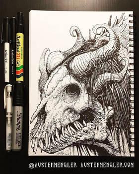 Dragon - Inktober 21 2018