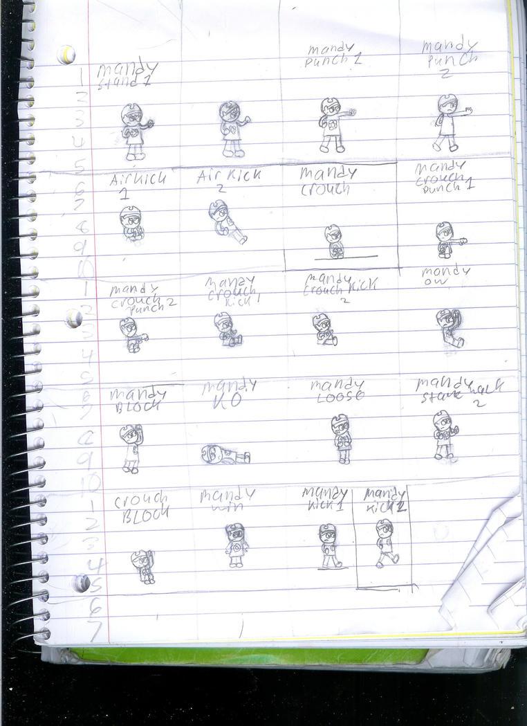 Billy and Mandy Sprite sheet by Generalnazor