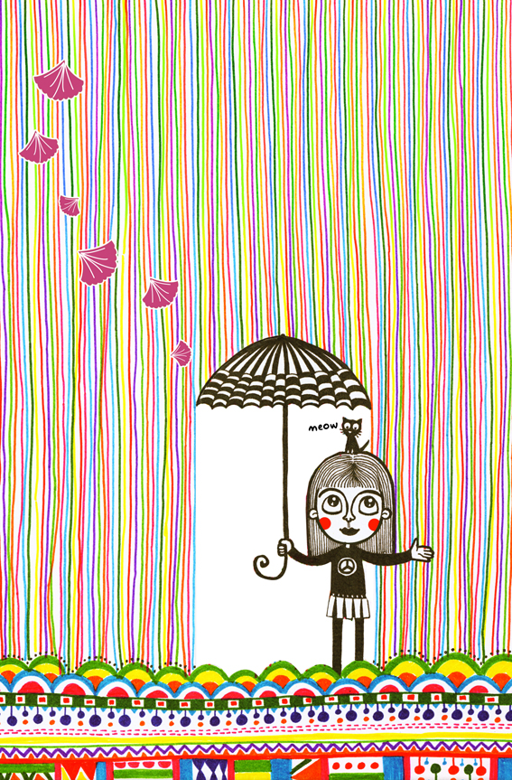 it's raining colours by cecilliahidayat