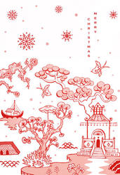 Chinoiserie Christmas 1 by cecilliahidayat