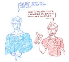 Steve+Tony by cartoonjunkie