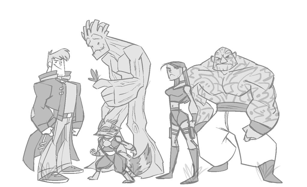 GotG - Character Designs by cartoonjunkie
