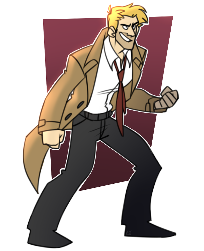 Constantine - Day 4 by cartoonjunkie