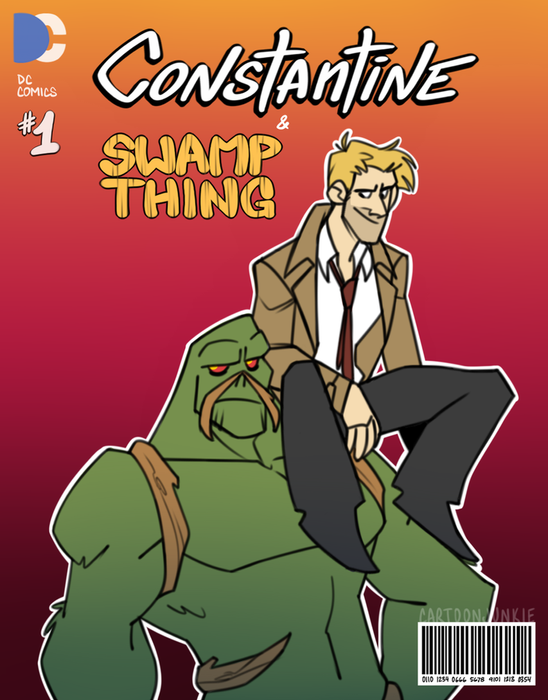 ConstantineSwampThing by cartoonjunkie