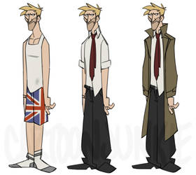 Constantine Character Design by cartoonjunkie