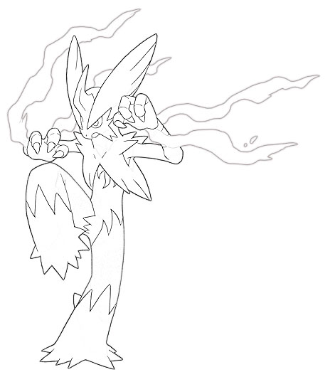 coloring pages blaziken - photo#23