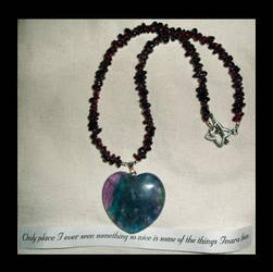 Garnet and Fluorite necklace