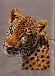 Cross Stitch Leopard Cub