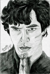 Pensive--BBC Sherlock by CutesyCalamities