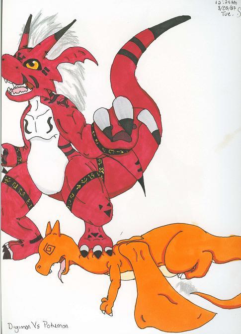 digimon vs. pokemon