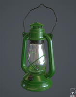 Oil lamp High Poly