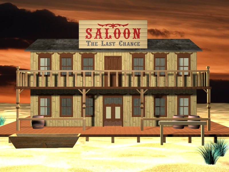 Old west saloon by mesoua on deviantart for Salon western