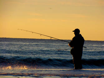 Winter Surf Fishing by Ryser915