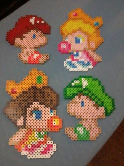 Baby Luigi Baby Peach Baby Daisy Baby Mario By