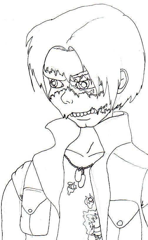 Skull faced boy by Blazeblackwing