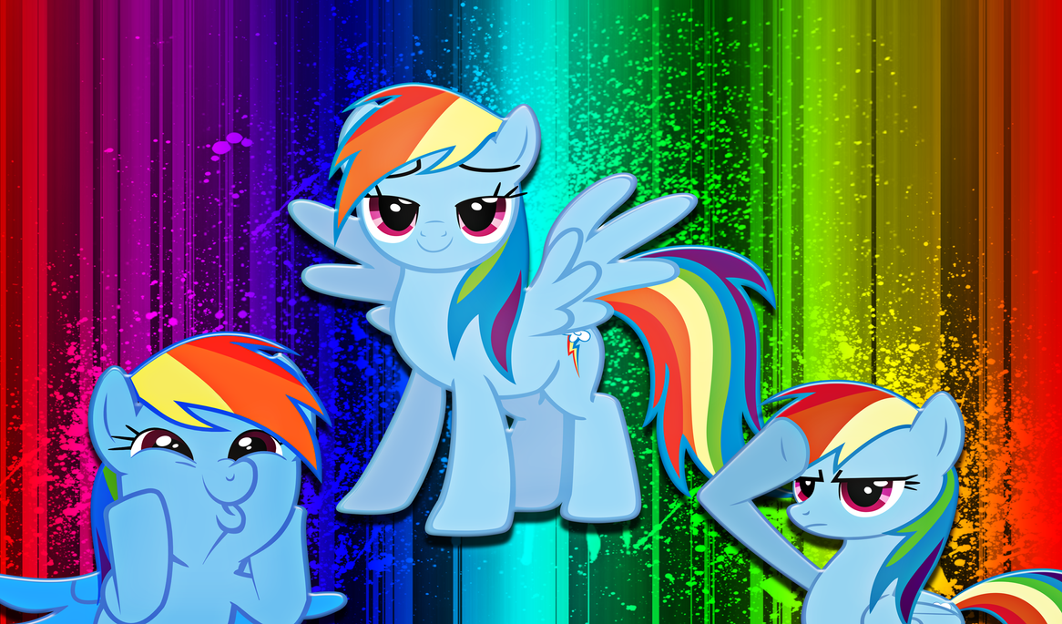 Rainbow Dashes Wallpaper by alanfernandoflores01