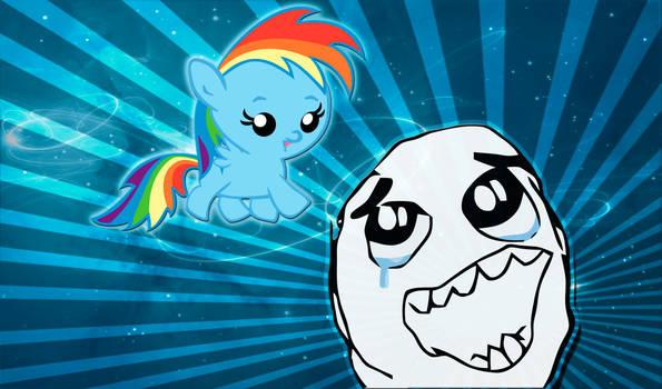 Baby Rainbow Dash Wallpaper