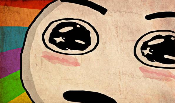Amazed Face Grunge Wallpaper