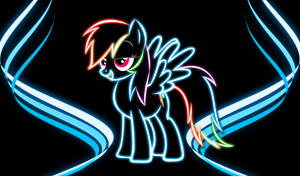 Rainbow Dash Neon Wallpaper