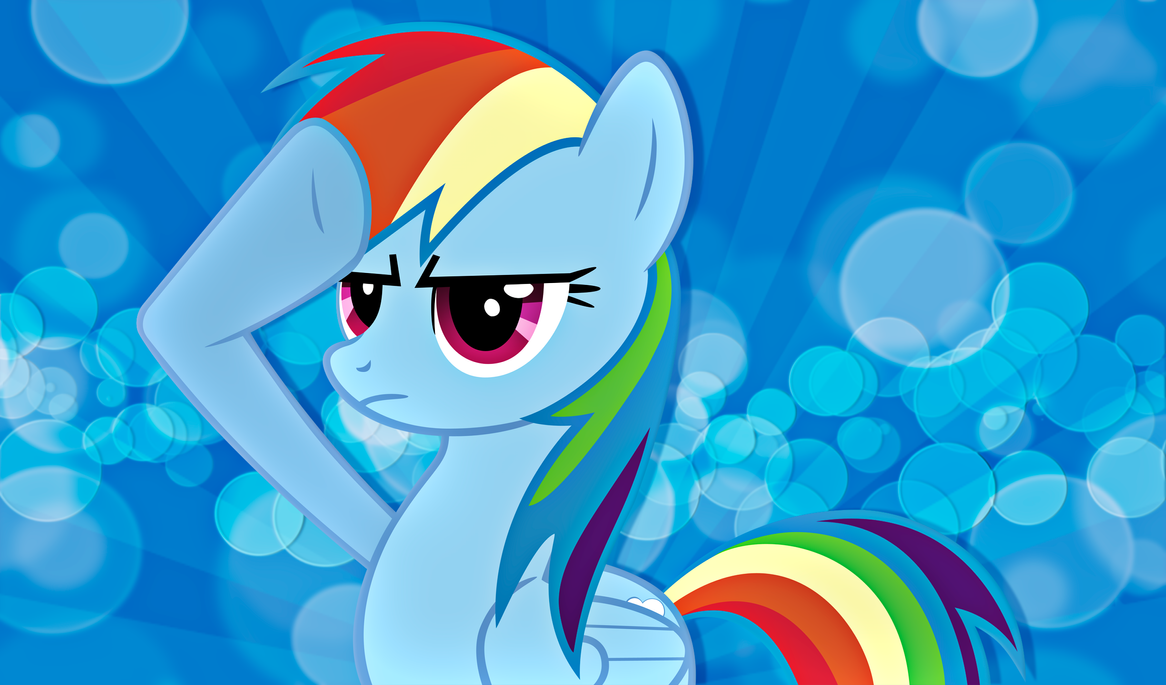 Rainbow Dash Salute Wallpaper by alanfernandoflores01