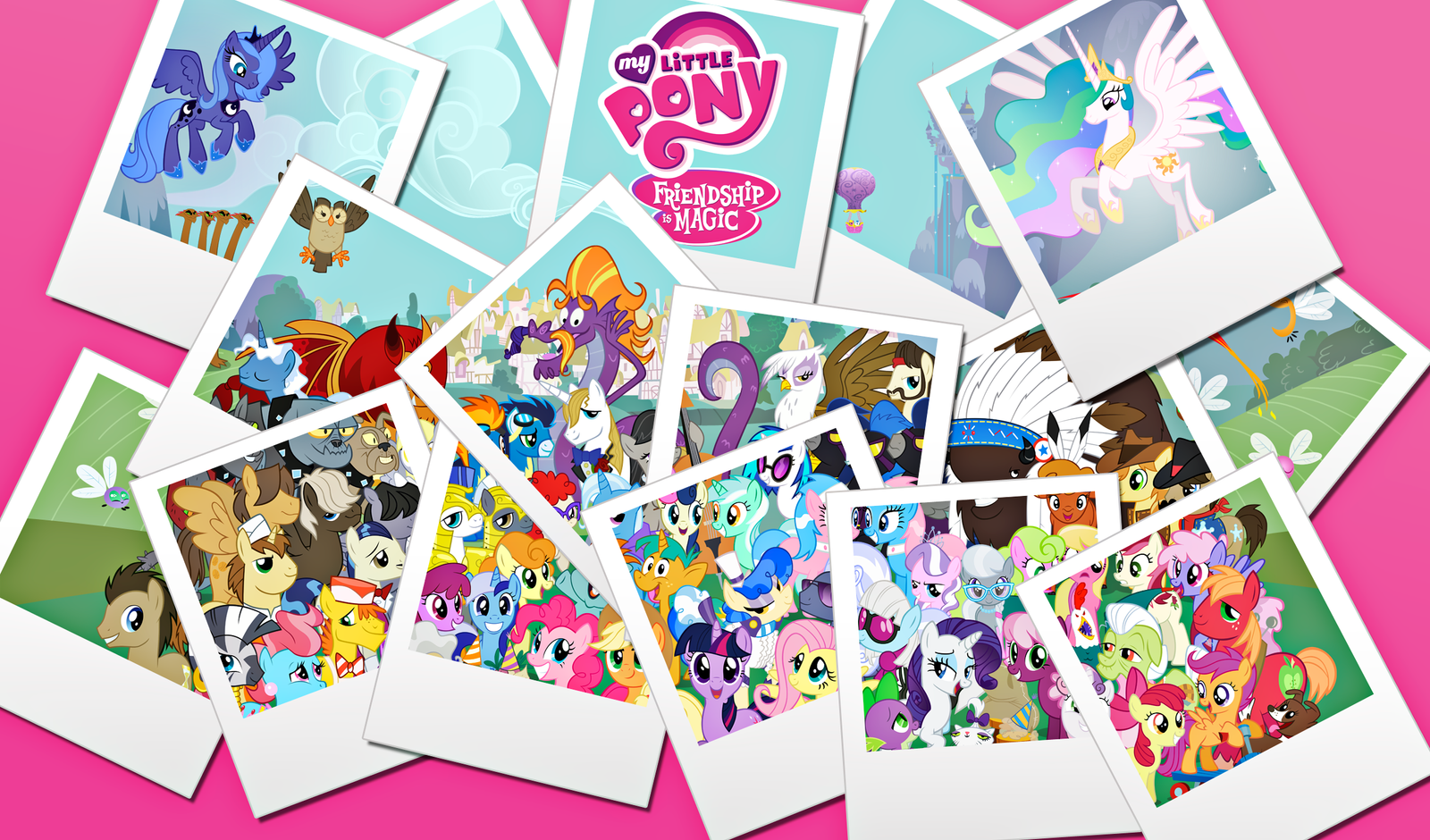 MLP Collage Wallpaper by alanfernandoflores01
