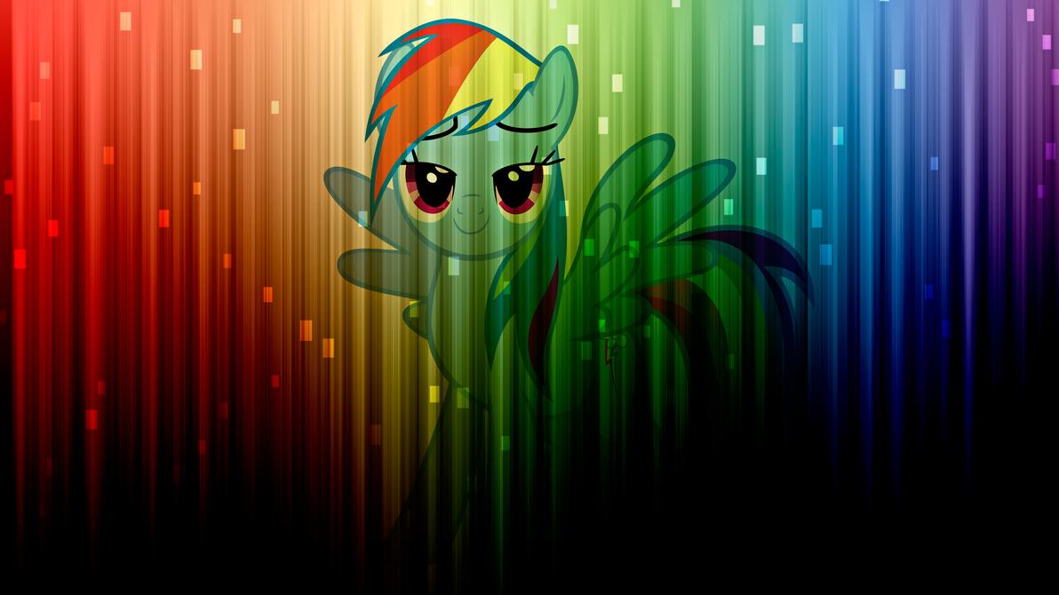 Rainbow Dash Wallpaper by alanfernandoflores01