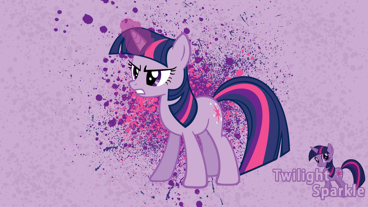 Twilight Sparkle Ink Splatter Wallpaper by alanfernandoflores01