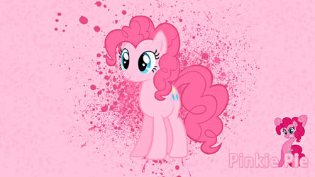 Pinkie Pie Ink Splatter Wallpaper by alanfernandoflores01