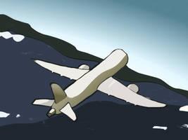 Airplane Postimpressionism by radstylix