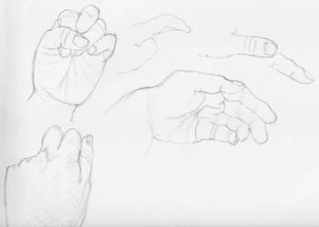 Hand Studies 1 by radstylix
