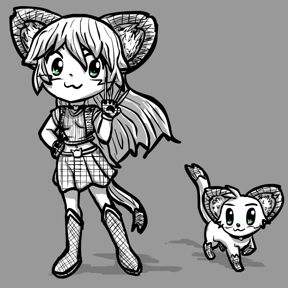 Magicat Girl Concept 1 by radstylix