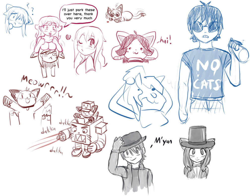 Twitchy Sketches 4 by radstylix