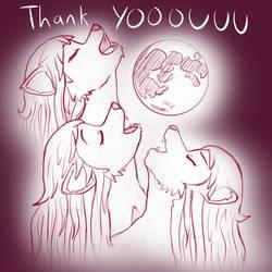 July 2018 Thank You art - Three Wolf Moon Tammy