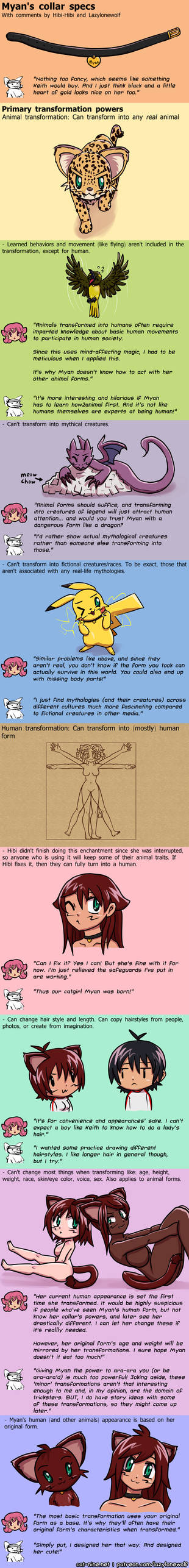 Collar specs 1/3: Primary transformation powers
