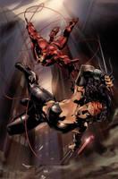 Ultimate Daredevil and Elektra by guisadong-gulay