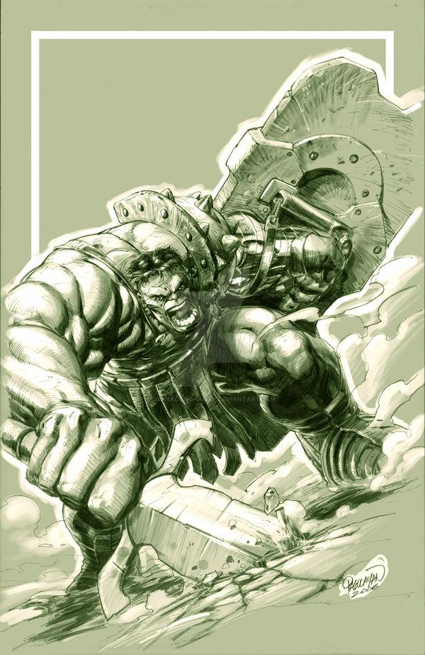 Planet Hulk pin-up