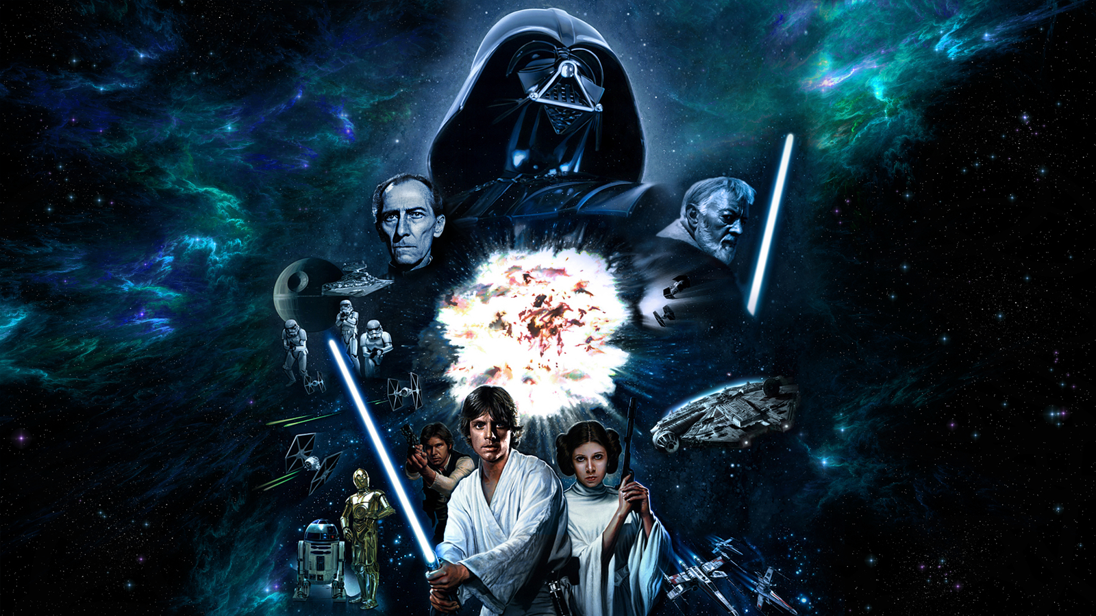 Star Wars A New Hope Wallpaper Jerry Vanderstelt By Spirit Of