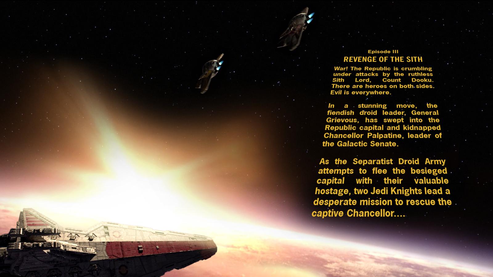 Star Wars Episode Iii Crawl Wallpaper By Spirit Of Adventure On Deviantart