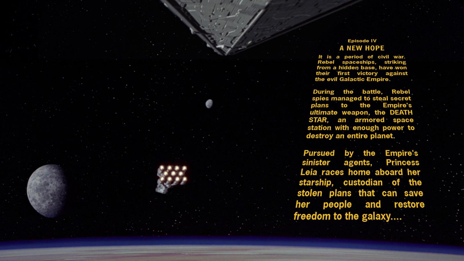 Star Wars Episode Iv Crawl Wallpaper By Spirit Of Adventure On Deviantart