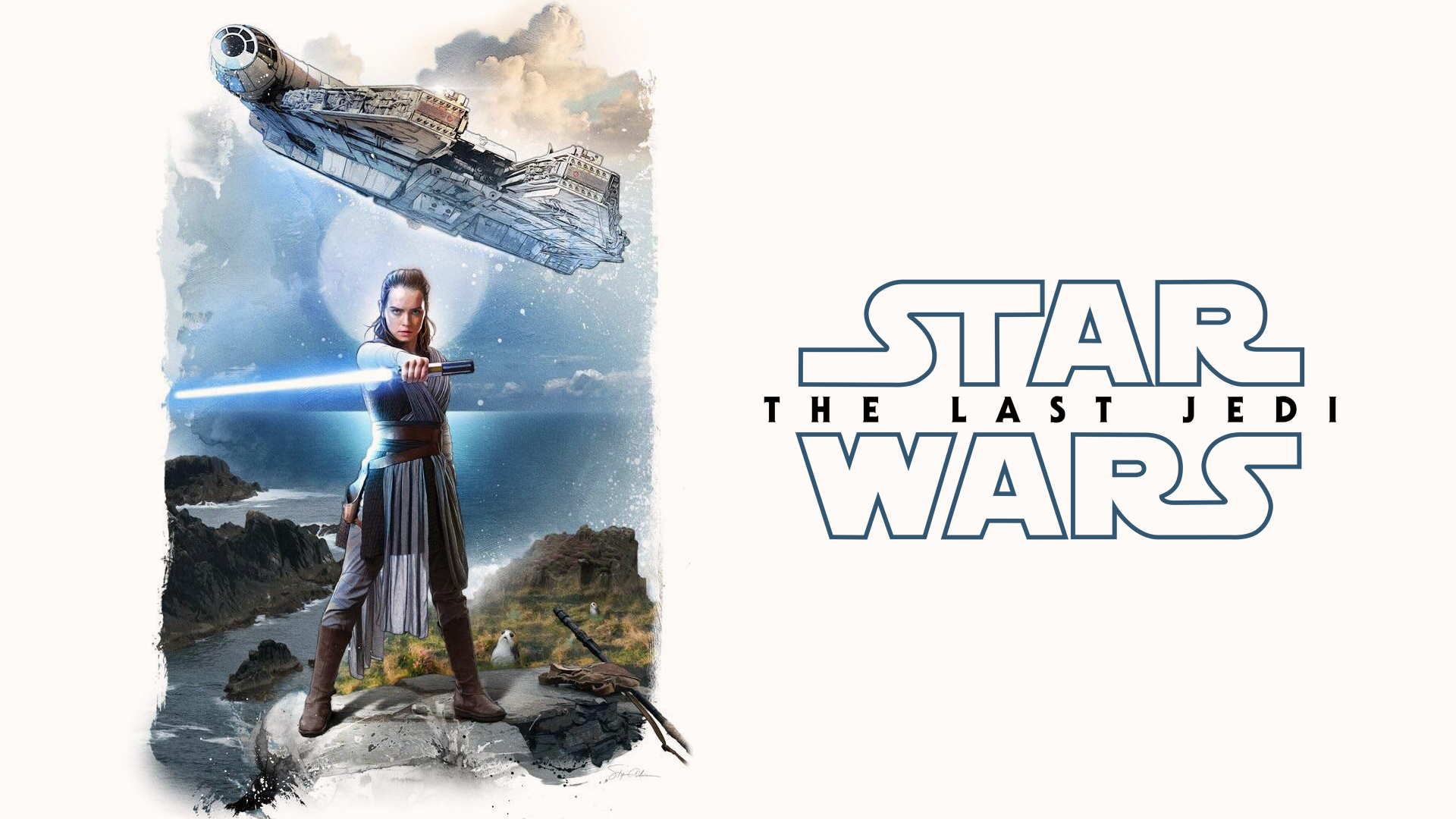 Star Wars The Last Jedi Wallpaper Rey Ahch To By Spirit Of Adventure On Deviantart