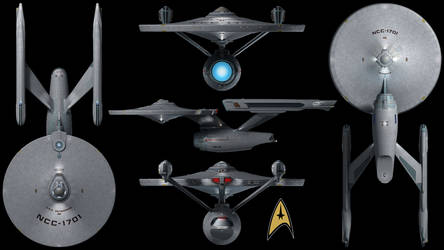 U.S.S. Enterprise (Refit) Wallpaper by Spirit--Of-Adventure