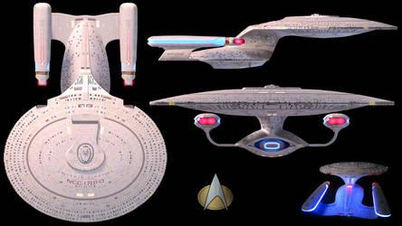 U.S.S. Enterprise - D Wallpaper by Spirit--Of-Adventure