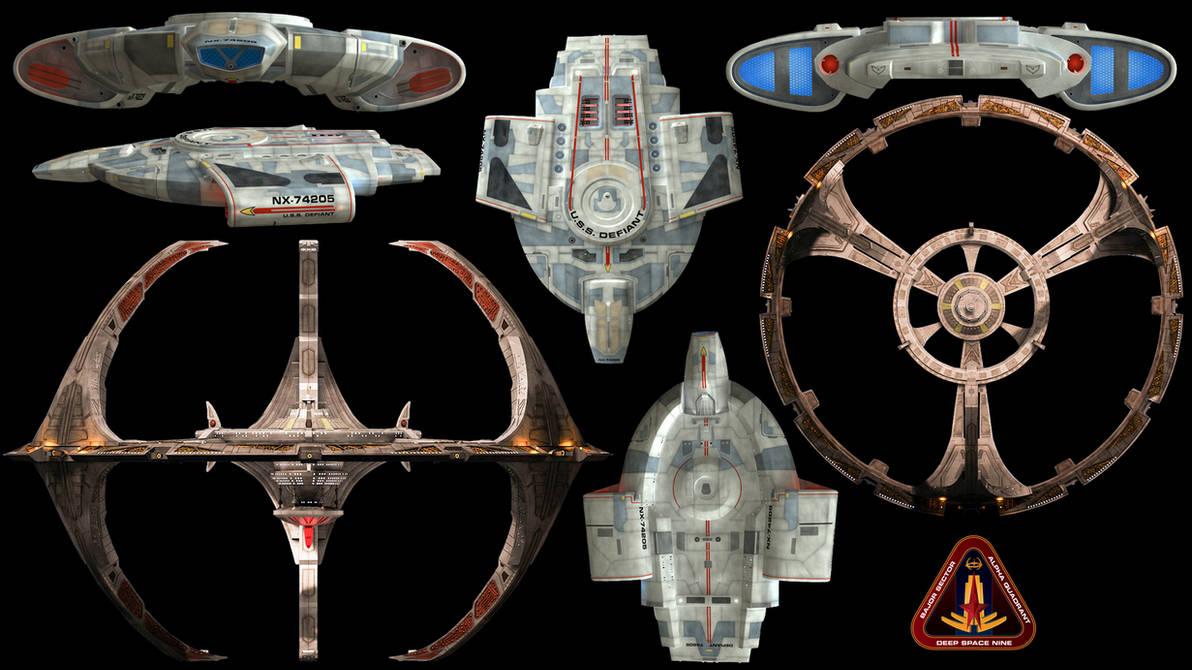 Deep Space 9 + U.S.S. Defiant Wallpaper by Spirit--Of-Adventure ...