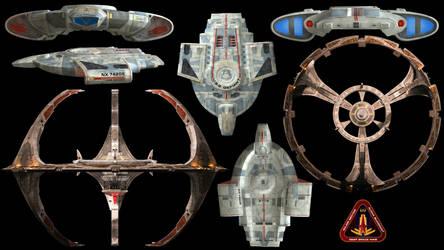 Deep Space 9 + U.S.S. Defiant Wallpaper by Spirit--Of-Adventure