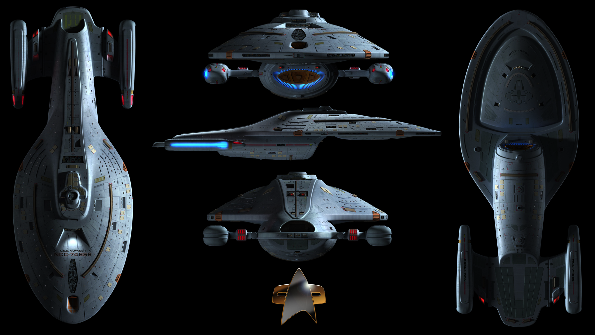 Uss Voyager Wallpaper By Spirit Of Adventure On Deviantart