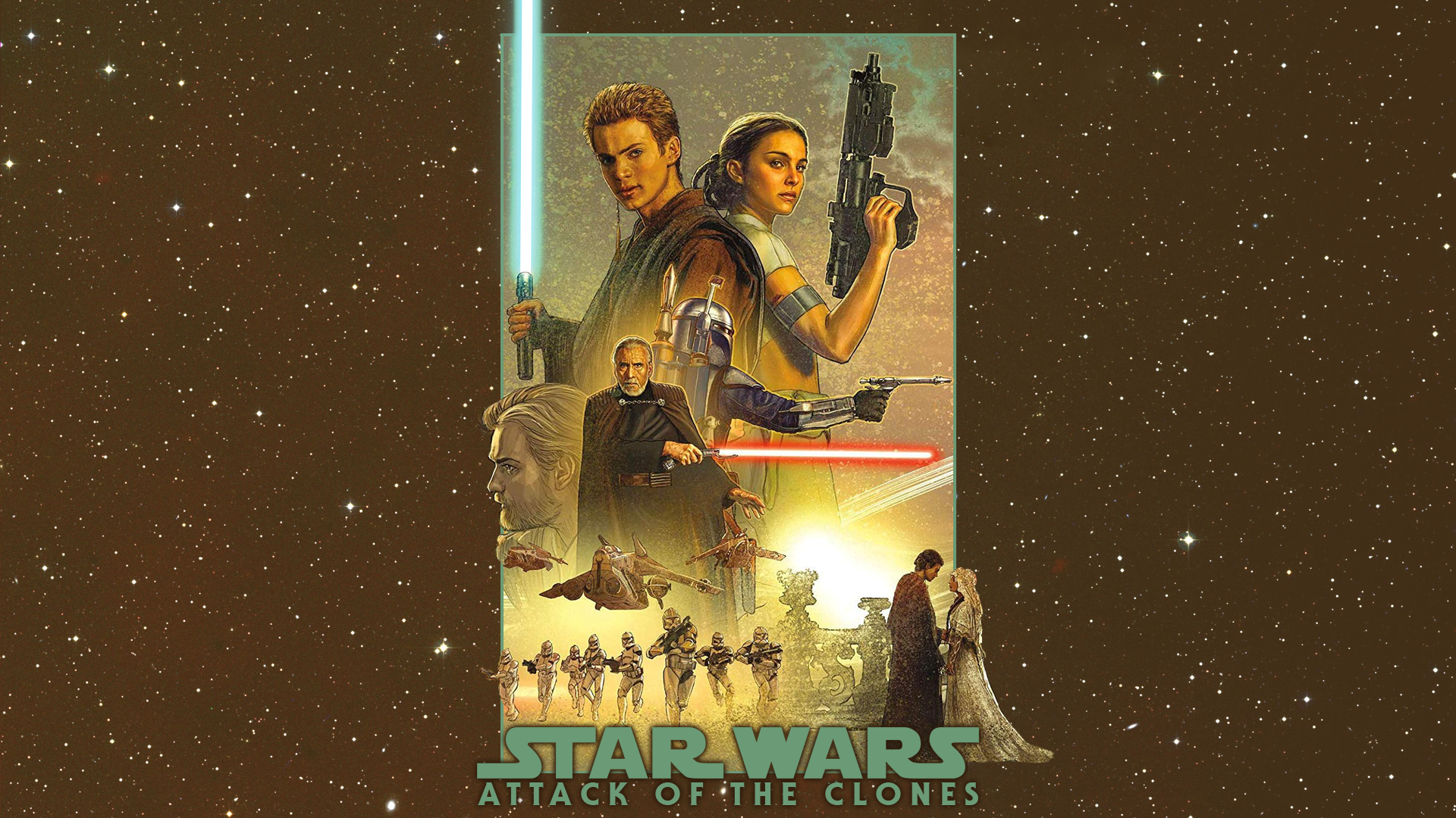 Attack Of The Clones Mural Wallpaper By Spirit Of Adventure On