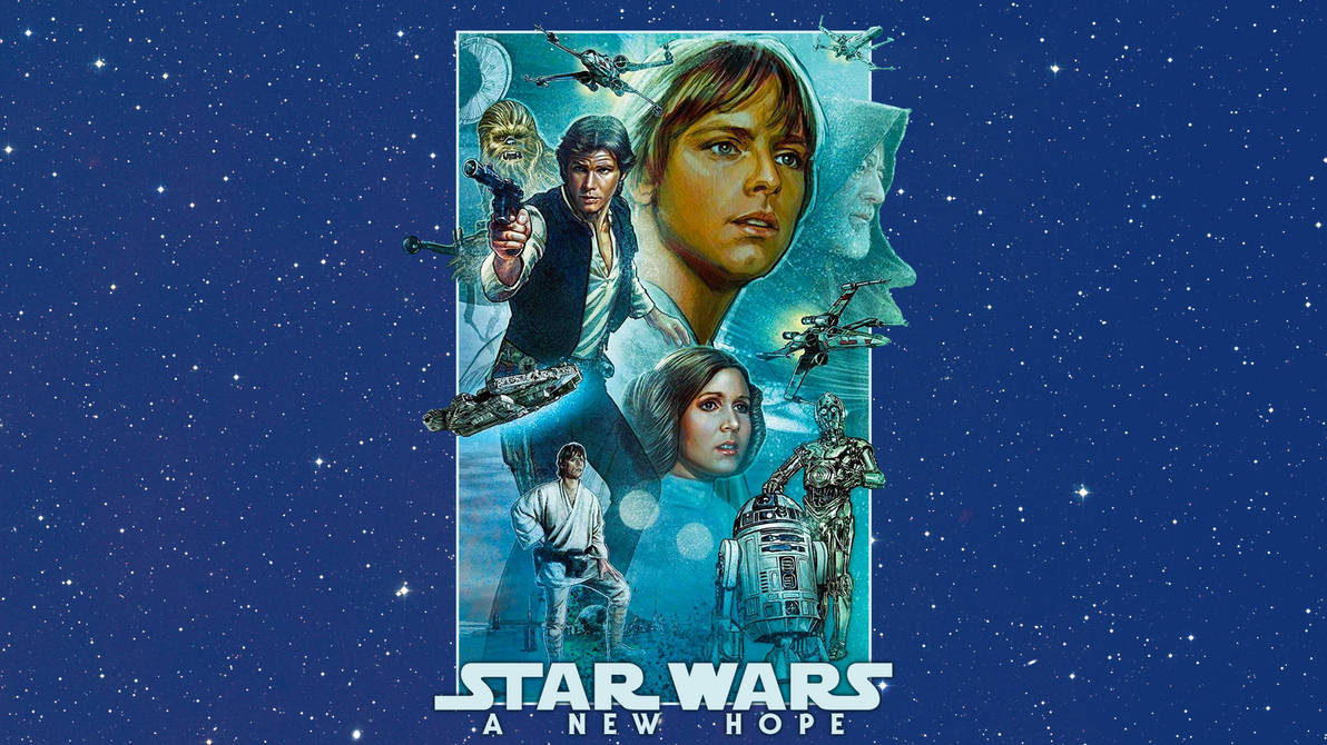A New Hope Mural Wallpaper By Spirit Of Adventure On