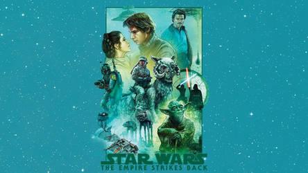 The Empire Strikes Back - Mural Wallpaper