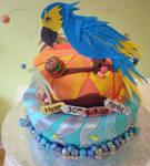 Parrot Head Cake by Heidilu22